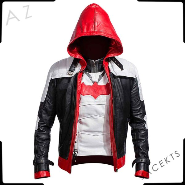 red hood leather jacket