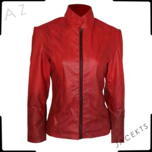 red leather jacket scarlet witch