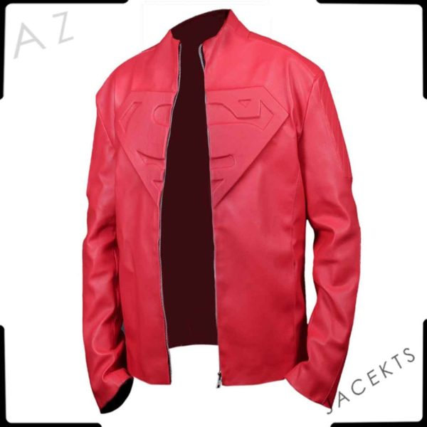 smallville superman jacket red leather