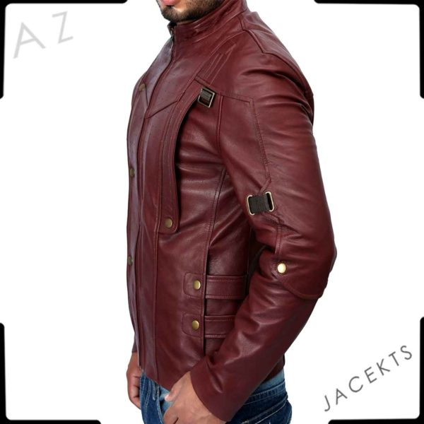 star lord red leather jacket