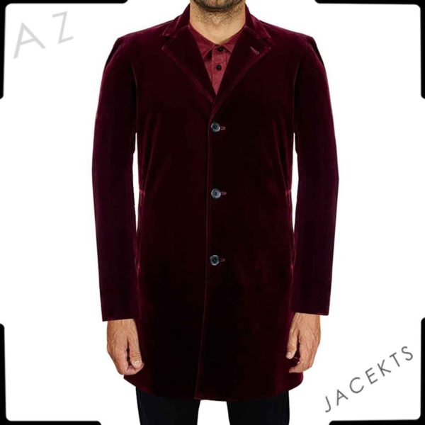 12th doctor red velvet coat