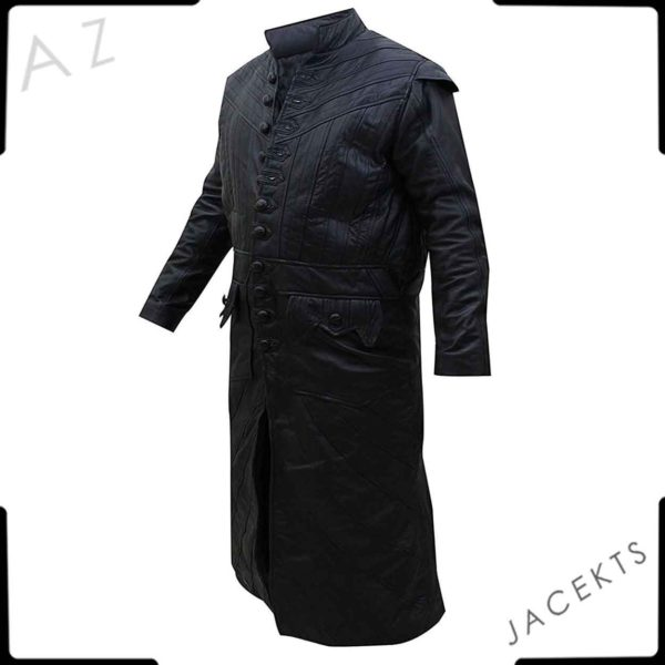 Captain Flint leather trench coat