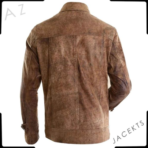 Jason Statham brown jacket