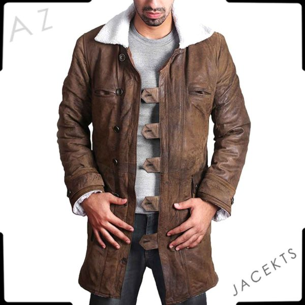 bane leather trench coat
