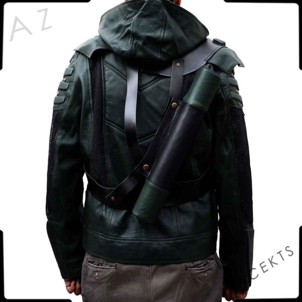 dark green hoodie arrow