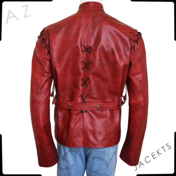 jaime lannister red leather jacket