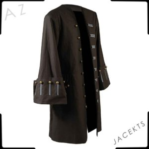 pirates of the caribbean jack sparrow jacket coat costume