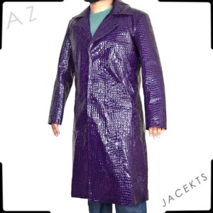 purple joker trench coat