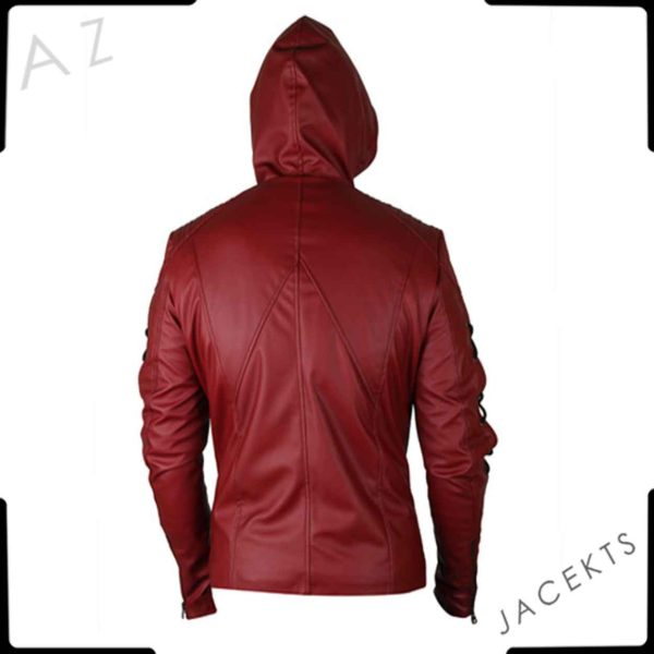 red arrow jacket costumered arrow jacket costume