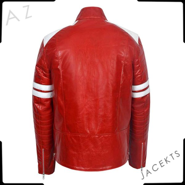 red leather jacket men fight club