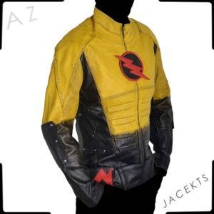 reverse flash leather jacket