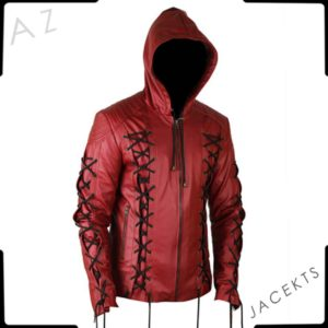 roy harper red arrow leather jacket