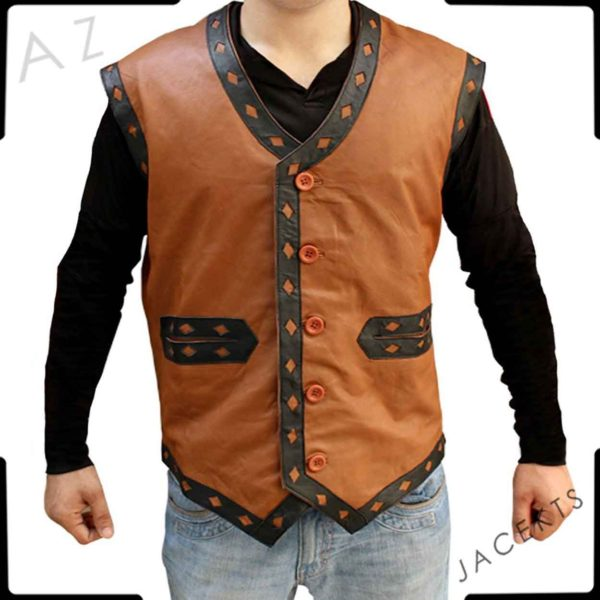 the warriors leather vest replica