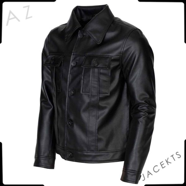 elvis presley black leather jacket