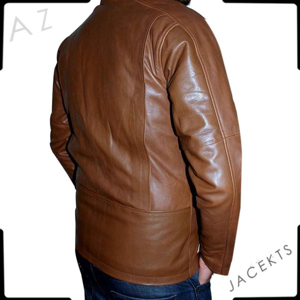 jack reacher brown leather jacket