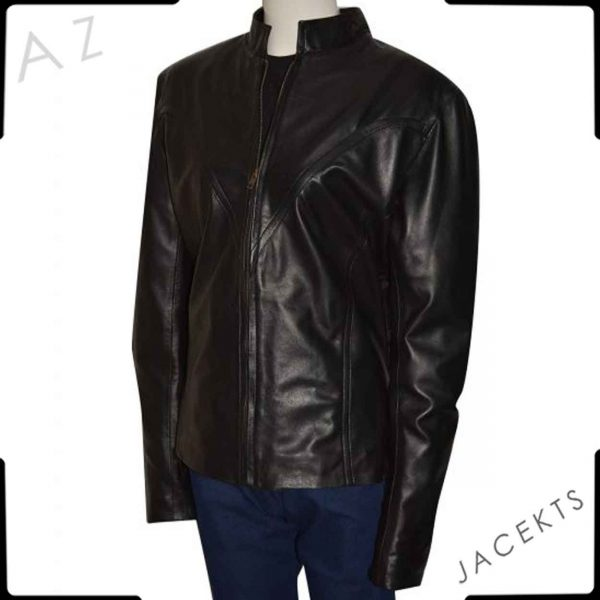 black widow leather costume jacket