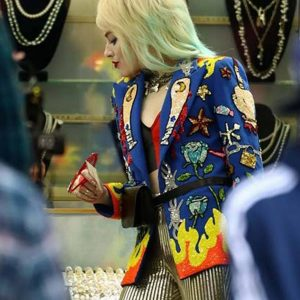 Birds Of Prey Harley Quinn Blue Blazer