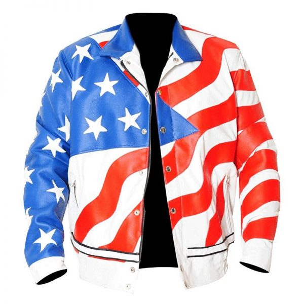 Vanilla Ice American Flag Jacket