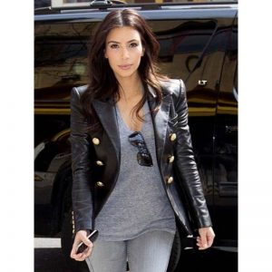 Kim Kardashian Black Coat
