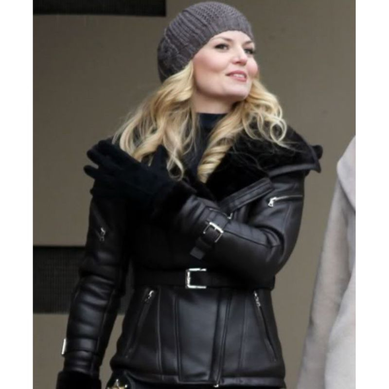 Once Upon a Time Emma Black Leather Jacket