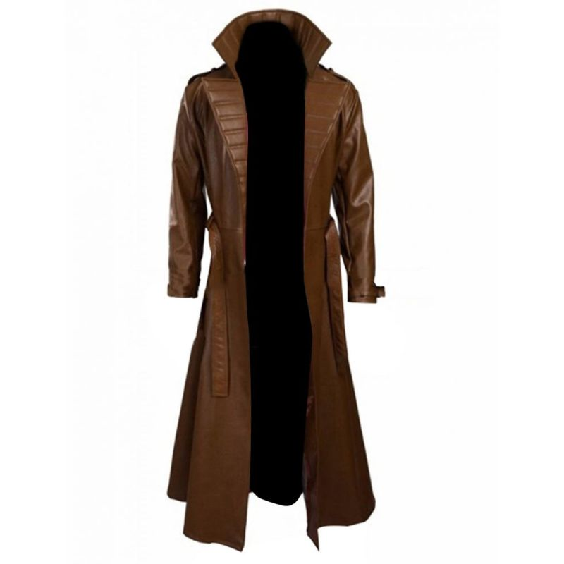 Gambit Channing Tatum Leather Brown Trench Coat