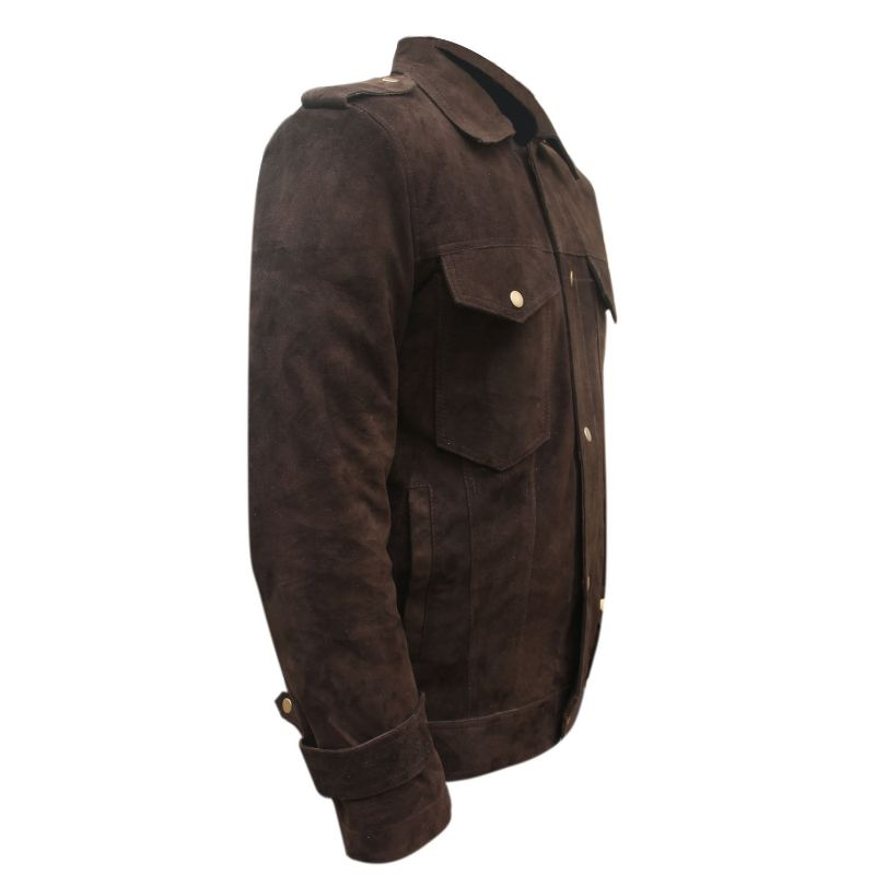 Beatles John Lennon Brown Suede Leather Jacket
