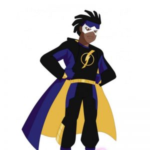 Blue Static Shock Hoodie Jacket