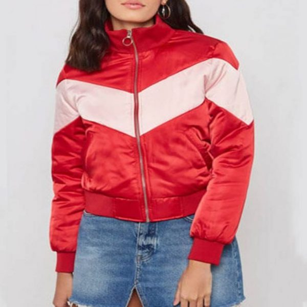 Spinning Out Serena Baker Bomber Jacket