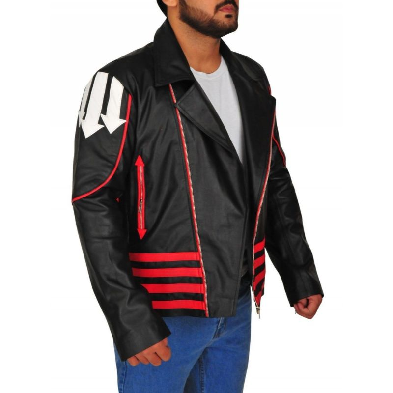 Red And Black Freddie Mercury Leather Jacket