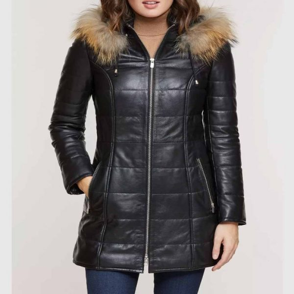 Jamie Quilted Coat with Detachable Hood