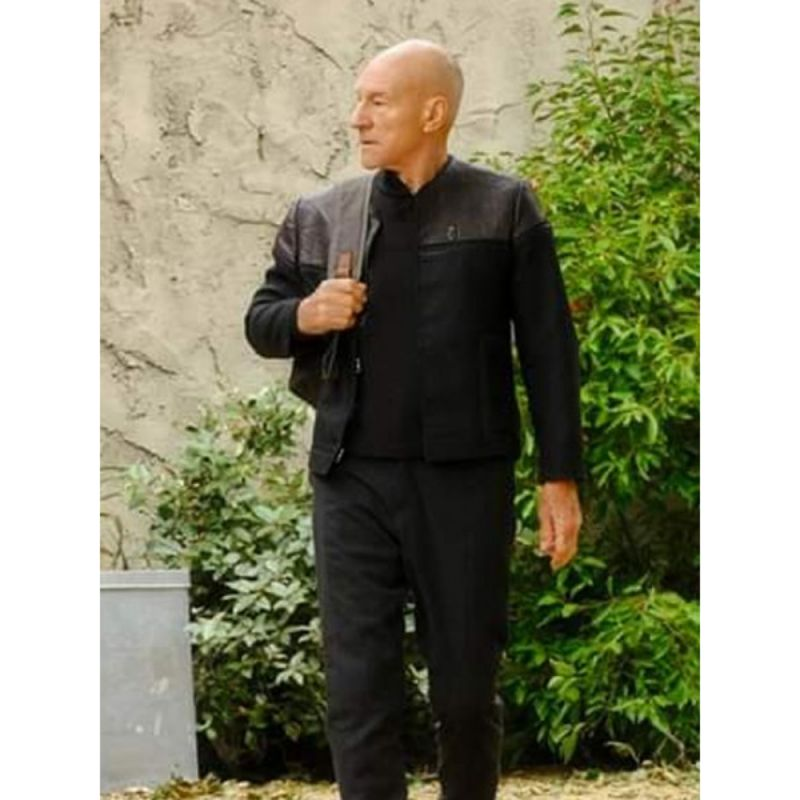 Patrick Stewart Star Trek Picard Black Jacket