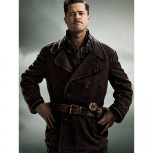 Brad Pitt Inglourious Basterds Leather Jacket