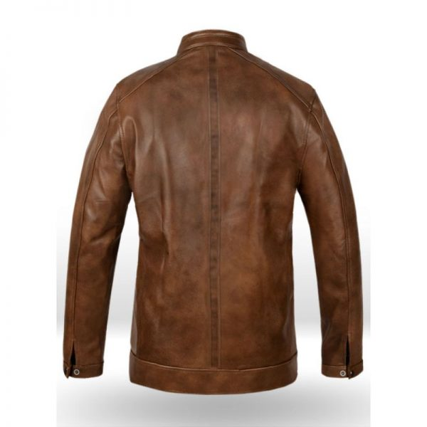 Overdrive Scott Eastwood Brown Leather Jacket