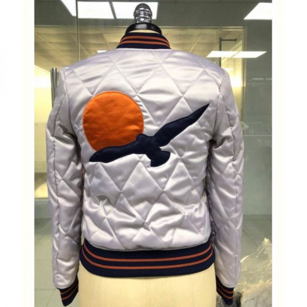 Women's 70s Silver Wings Quilted Bomber Jacket