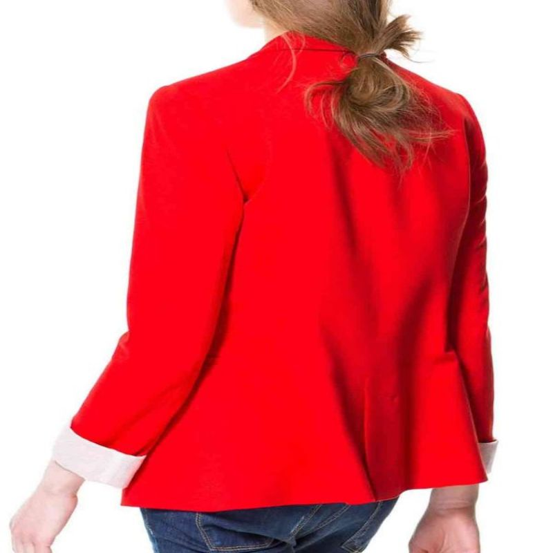 Womens Red Blazer Jacket