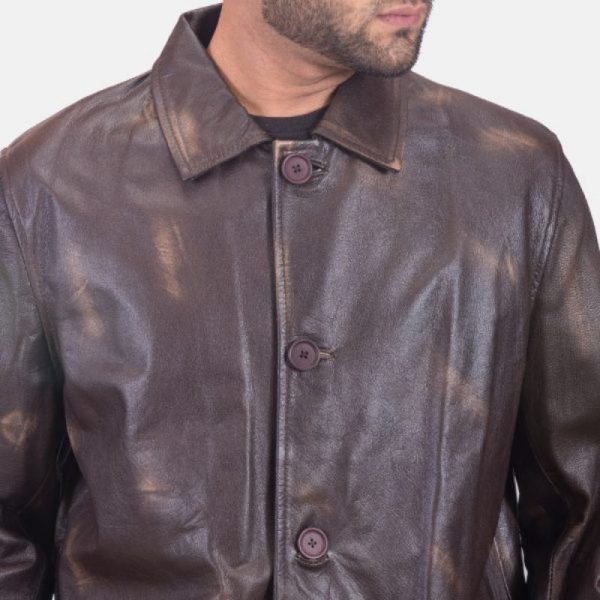 Mens Dark Brown Trench Coat