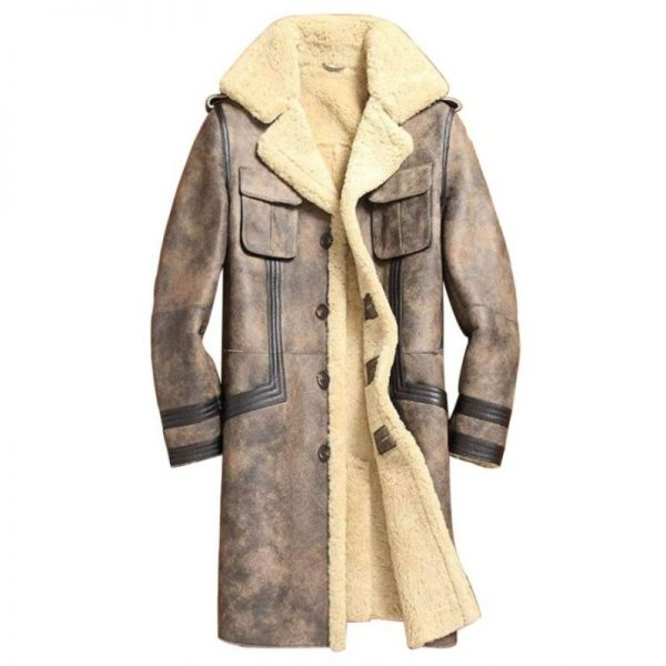 Mens Long Sheepskin Overcoat