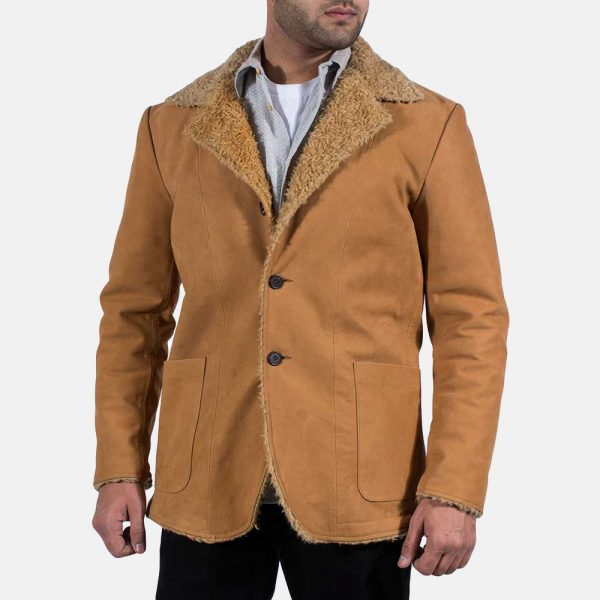 Mens Beige Fur Coat