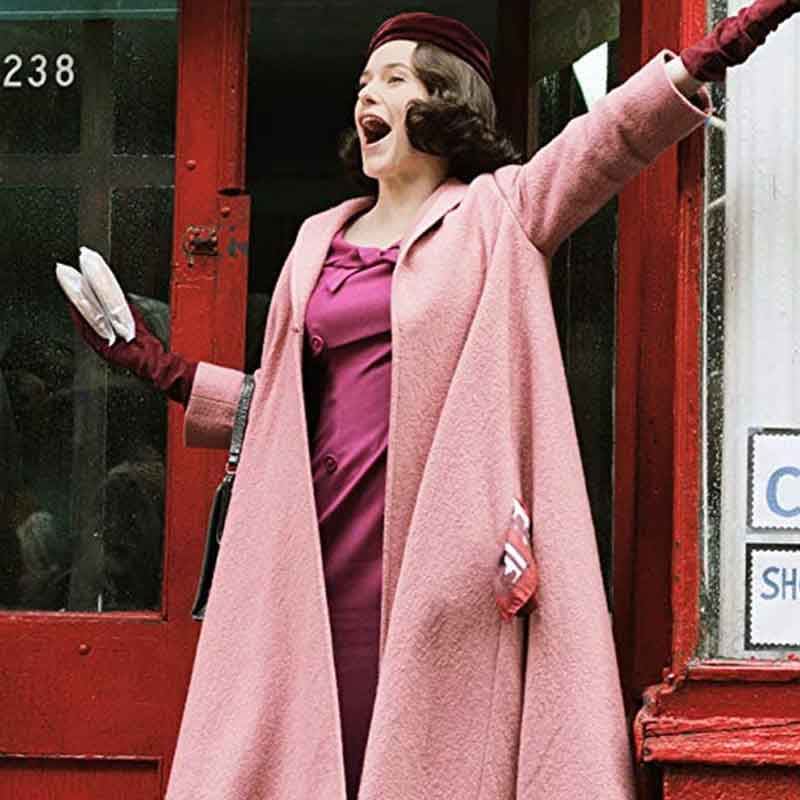 The Marvelous Mrs.Maisel Rachel Brosnahan Pink Coat