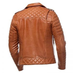 Classic Motorcycle Tan Leather Jacket
