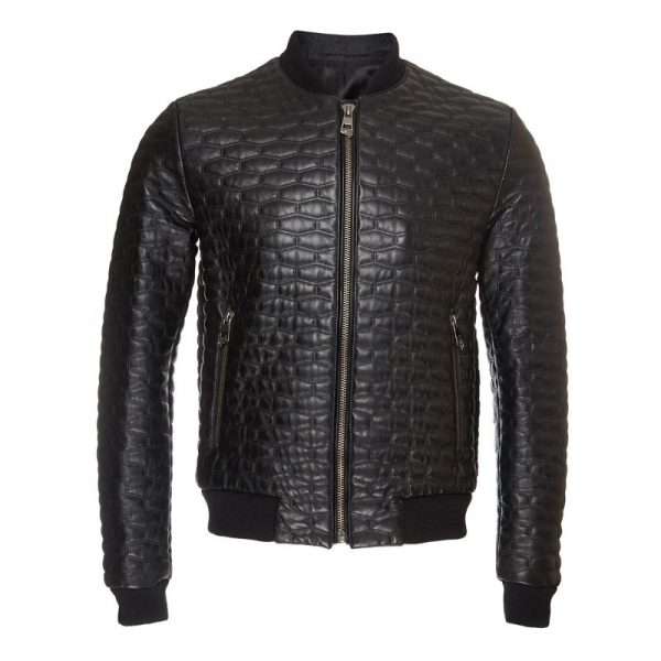 Black Quilted Biker Jacket